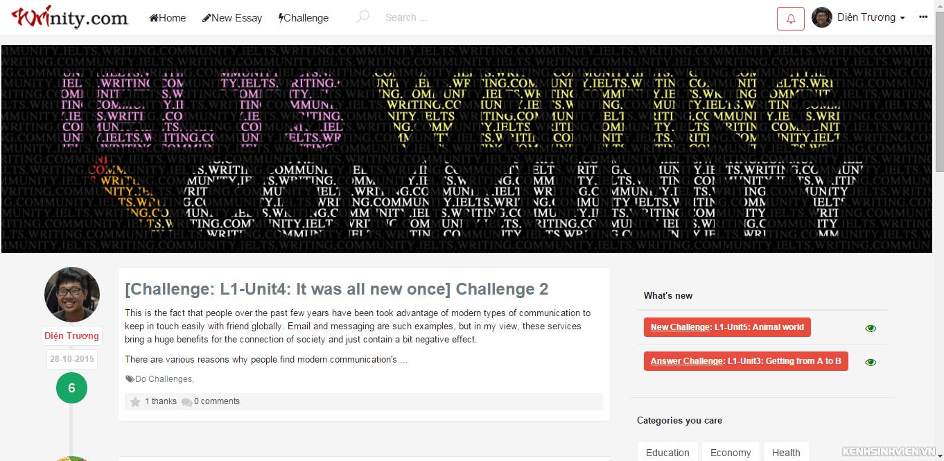 trang web sửa writing ielts miễn phí